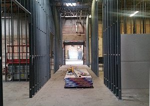 Large warehouse conversion into smaller commercial distribution units.