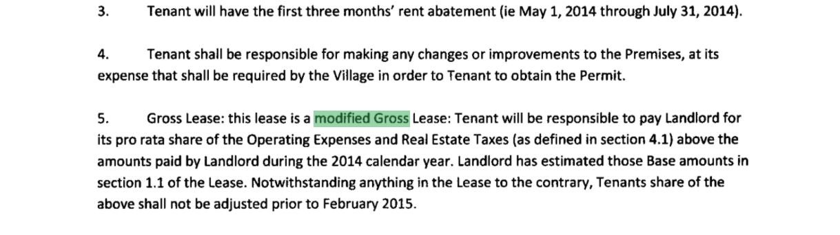 modified gross commercial lease
